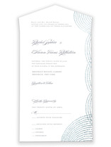 Bespeckle All-in-One Foil-Pressed Wedding Invitations