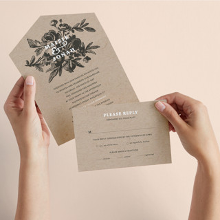 Love in Bloom All-in-One Wedding Invitations