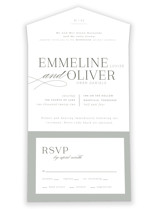 All About That Type All-in-One Wedding Invitations