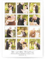 A Year in My Life Wedding Announcements