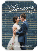 Refined Surname Wedding Announcements