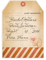 Vintage Pack Your Bags Wedding Announcements