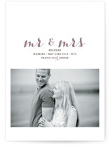 Mr and Mrs Wedding Announcements