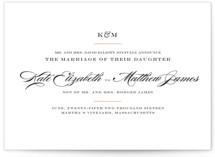 Charming Go Lightly Wedding Announcements