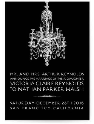 Chandelier Wedding Announcements