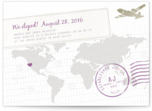 A Faraway Destination Wedding Announcements