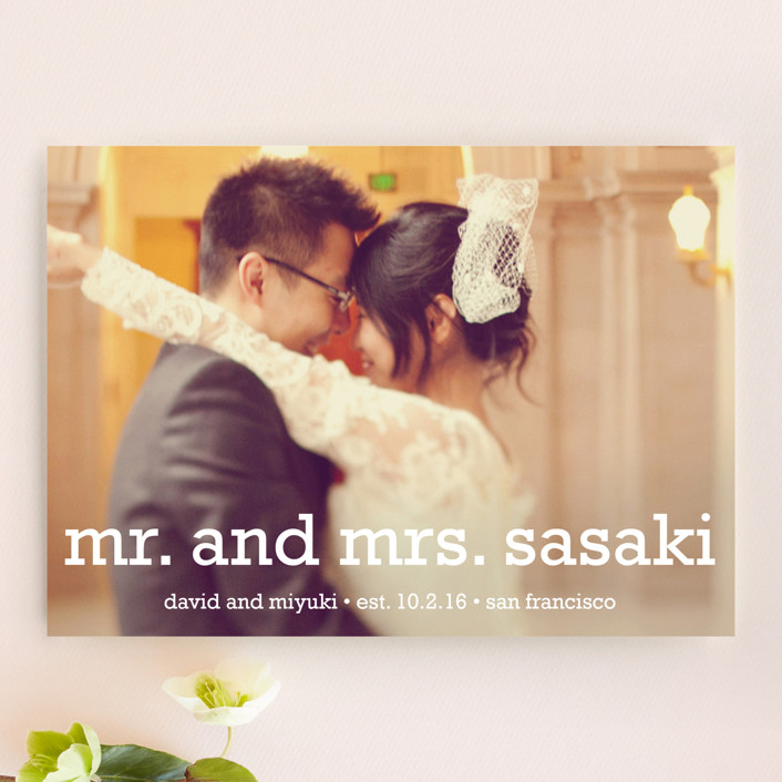"""""""Happy Everything"""" - Simple Wedding Announcements in Snow by annie clark."""