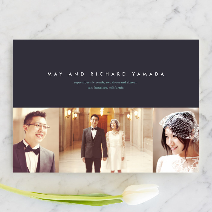 """""""High Style"""" - Simple, Formal Wedding Announcements in Peacock by kelli hall."""