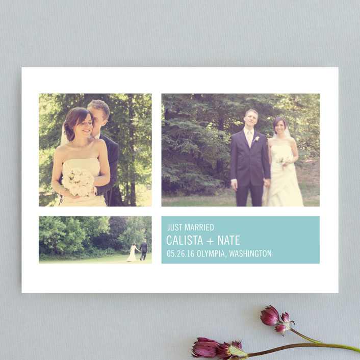 """Modern Geometric Group   "" - Formal, Classical Wedding Announcements in Sky by Precious Bugarin Design."