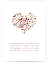 Love Birds Wedding Announcements