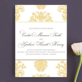 Float + Bridal Brocade Wedding Announcements