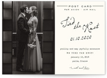 Airmail Wedding Announcement Postcards