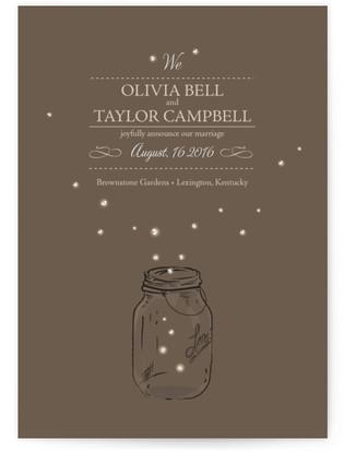 Fireflies Wedding Announcement Postcards