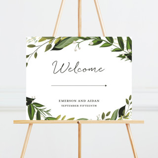 Vines of Green Large Custom Wedding Sign