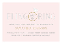 Fling Before the Ring Bachelorette Party Invitations