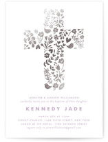 HAPPY Foil-Pressed Baptism and Christening Invitations