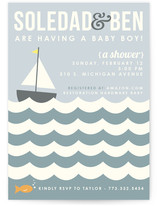 Baby Boat Baby Shower Postcards