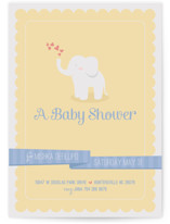 Baby Elephant Baby Shower Postcards