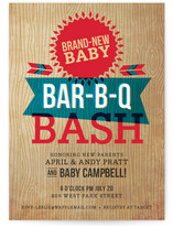 Backyard Barbeque Baby Shower Postcards