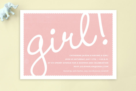 Girl! Baby Shower Postcards
