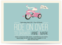 Ride On Over Baby Shower Postcards