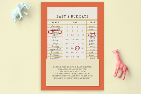 Baby's Due Date Baby Shower Postcards