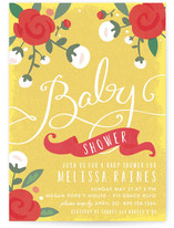 Baby Roses Baby Shower Postcards