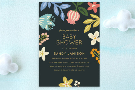 Baby Blooms Baby Shower Postcards