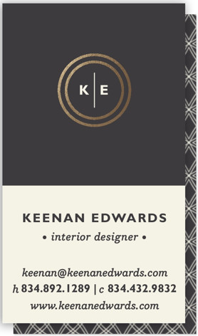 Circle Circle Dot Foil-Pressed Business Cards