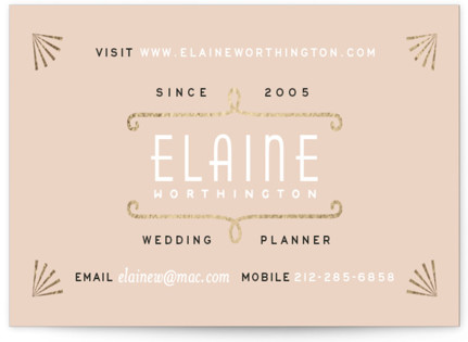 Gold Glamour Foil-Pressed Business Cards