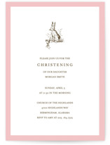 Classic Bunny Baptism & Christening Announcements