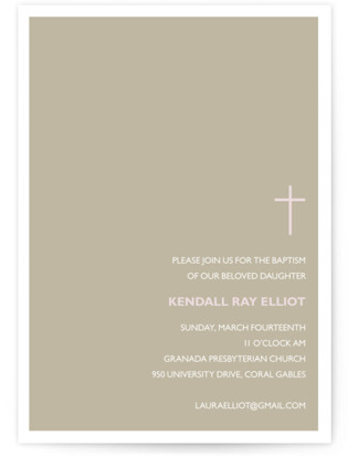 Bisect Baptism and Christening Invitations