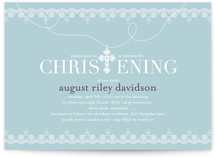 Cross Pendant Baptism & Christening Announcements