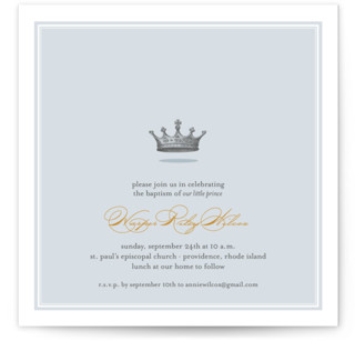 Our Little Prince Baptism and Christening Invitations