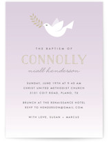 Little Dove Baptism & Christening Announcements