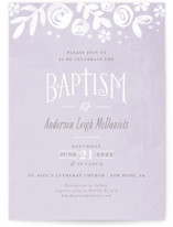 Baby's Breath Baptism & Christening Announcements