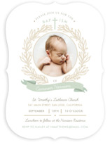 Baptism Wreath Baptism & Christening Announcements