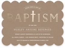 Modern Cross Baptism & Christening Announcements
