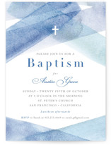 watercolor stripes Baptism & Christening Announcements