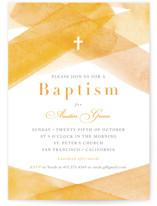 watercolor stripes Baptism & Christening Announcements