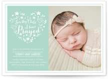For This Child Baptism & Christening Announcements