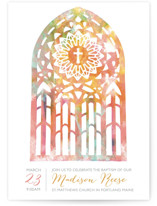 Pretty Window Baptism & Christening Announcements