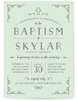 Simply Blessed Baptism & Christening Announcements