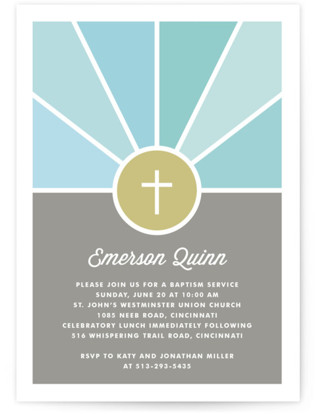 Window Baptism and Christening Invitations