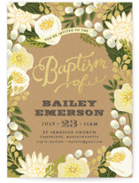 Floral Canopy Baptism & Christening Announcements
