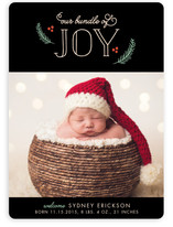Baby Joy Holiday Birth Announcements