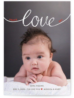 Little Letters Holiday Birth Announcements