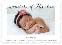 Wonders of His Love Holiday Birth Announcements