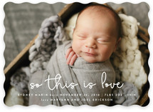So This Is Love Holiday Birth Announcements