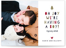Oh Joy Oh Boy Holiday Birth Announcements
